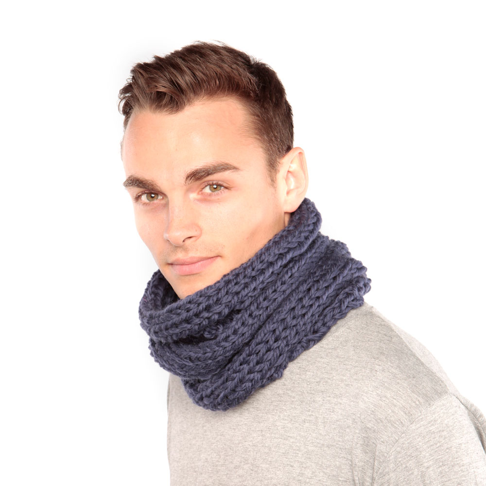 Blue Chunky Knit Snood