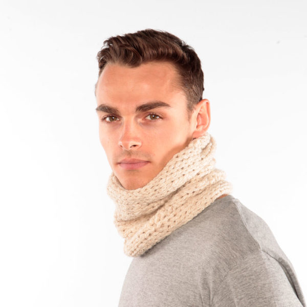 Cream Alpaca Knit Snood