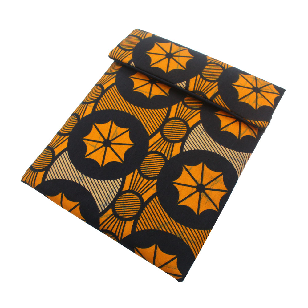 iPad Sleeve- Navy Wheels Ankara