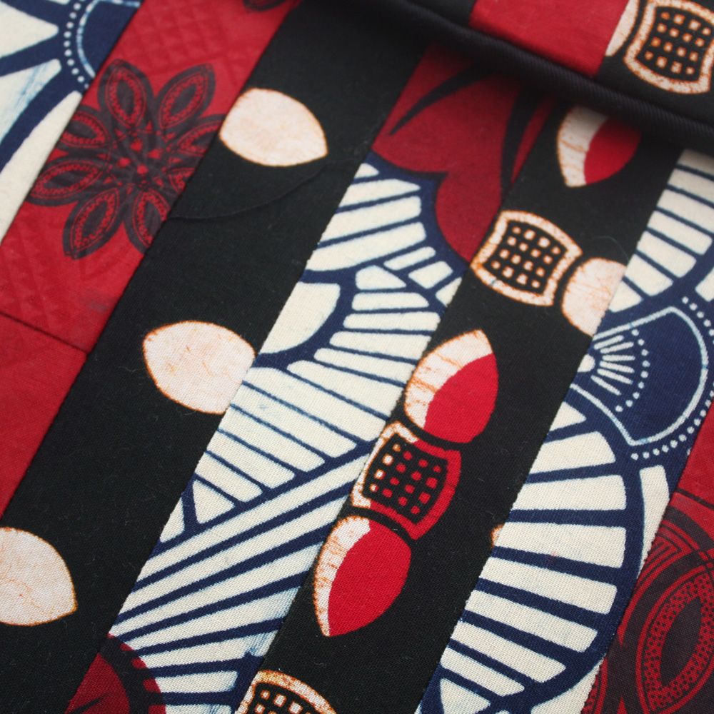 Red Ankara Patchwork