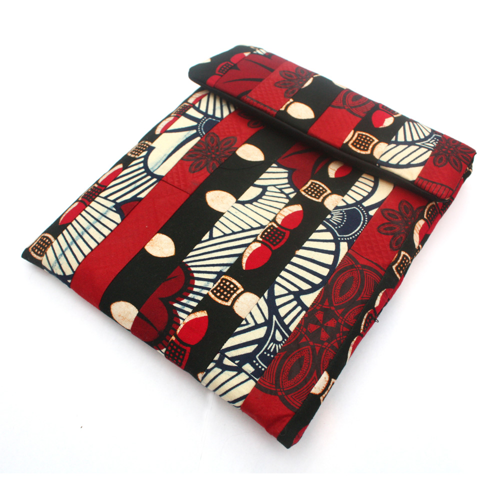 Red patchwork iPad sleeve