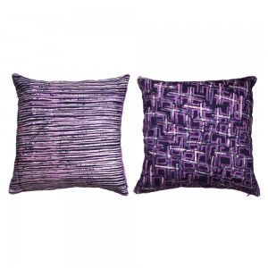 Radiant Orchid Batik cushion