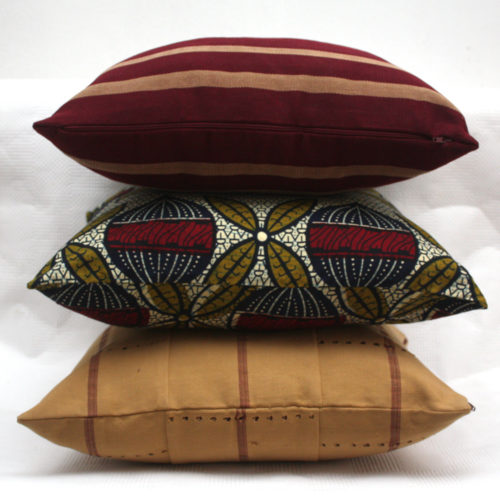 Urbanknit Trio of African Cushions