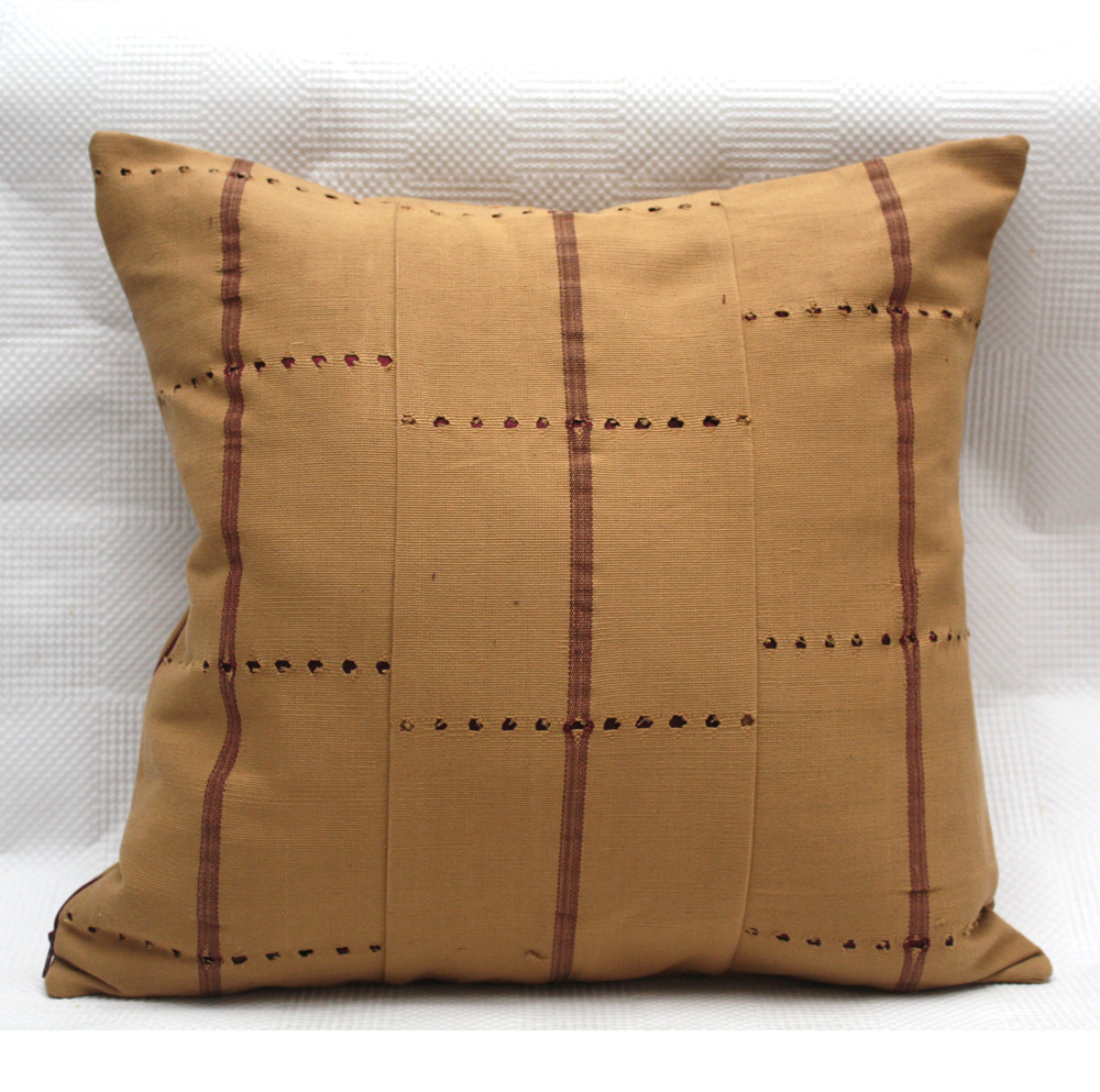 Beige Aso Oke Cushion