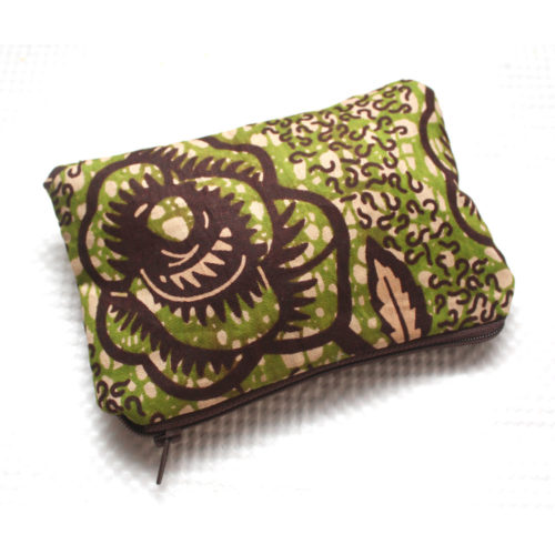 Green and Brown Ankara Zipper