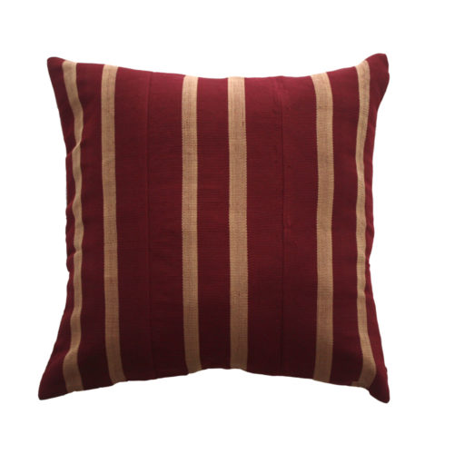 Maroon Aso Oke Cushion