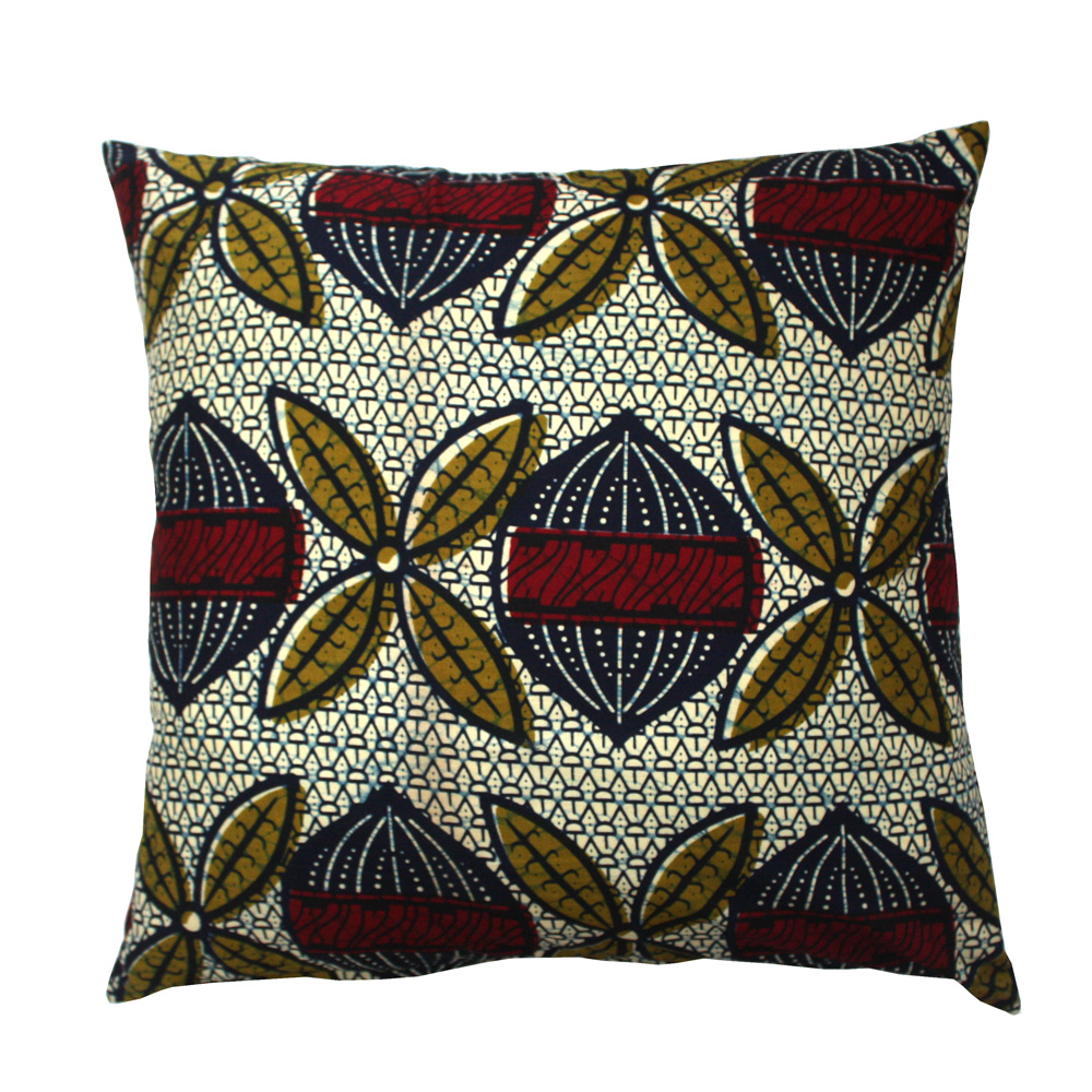 Maroon Seed Ankara Cushion