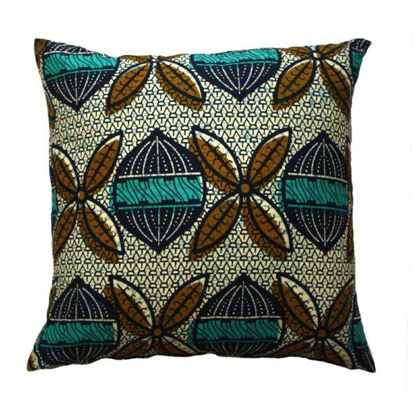 Teal Seed Ankara Cushion