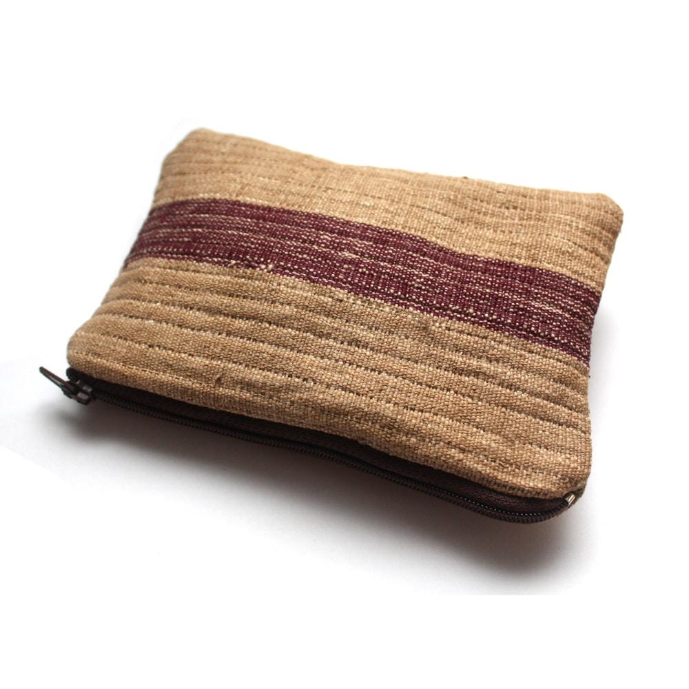 Vintage Aso oke zipper pouch