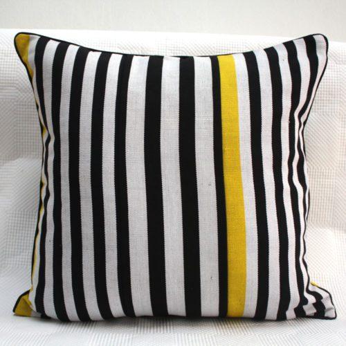 Yellow Zebra Cushion