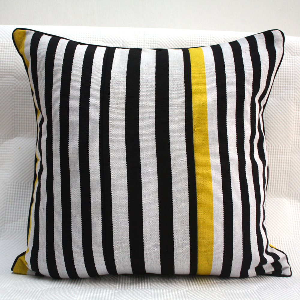 Yellow Zebra Cushion