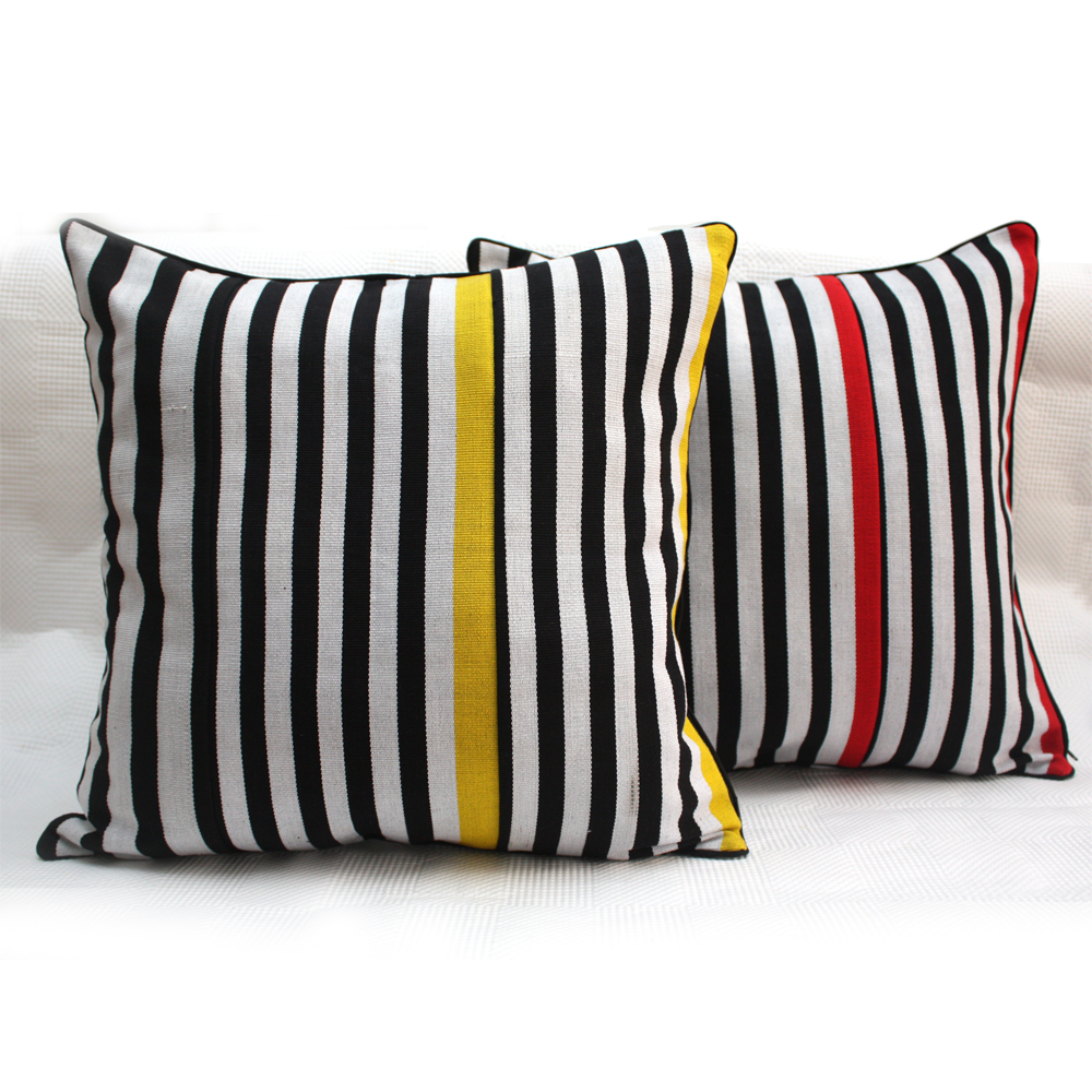 Zebra Pop Aso-oke Cushions