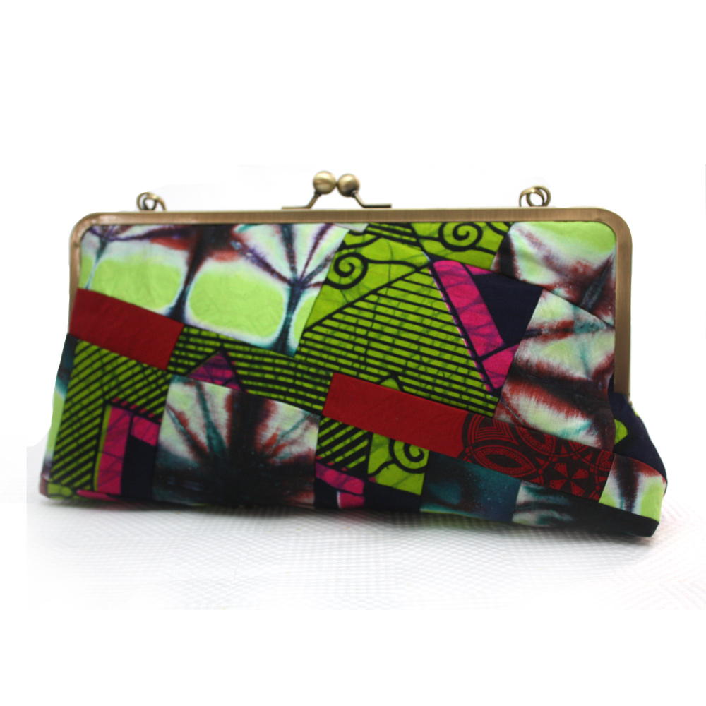 African Print Patchwork Clutch