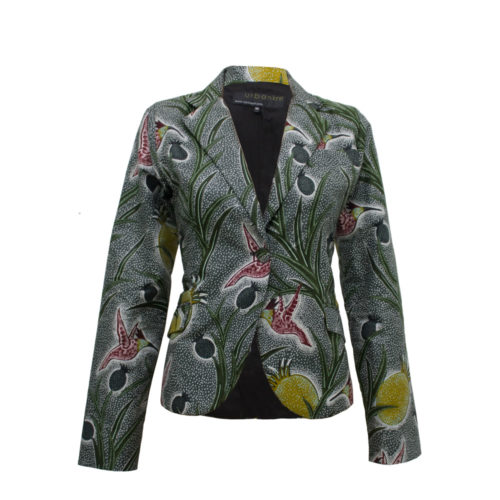 Humming Bird Ankara Print Jacket