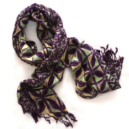 Purple Violets Splash Shawl