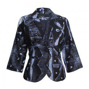 Indigo Sky Batik Blazer