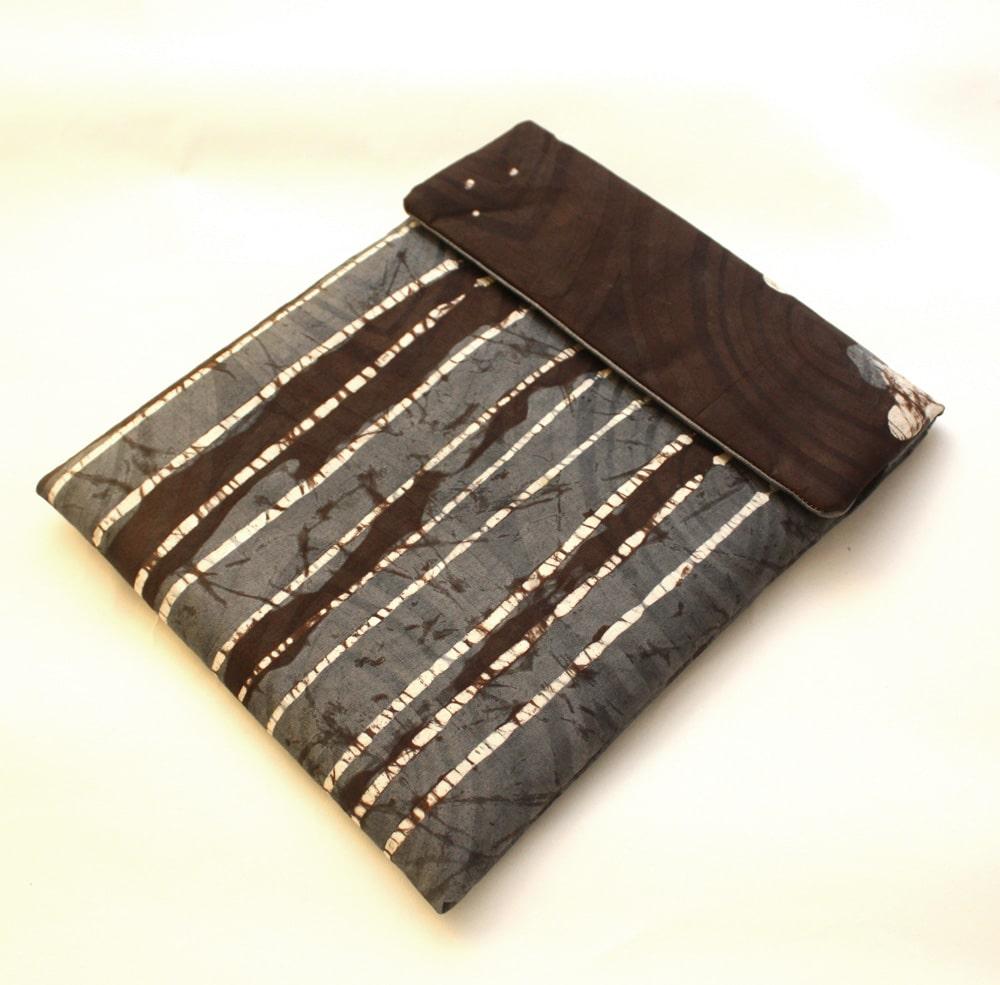 Grey Batik iPad sleeve