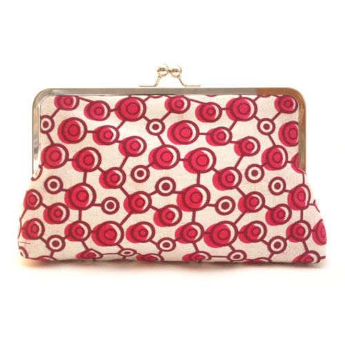 Pink Polka Supersnap Clutch