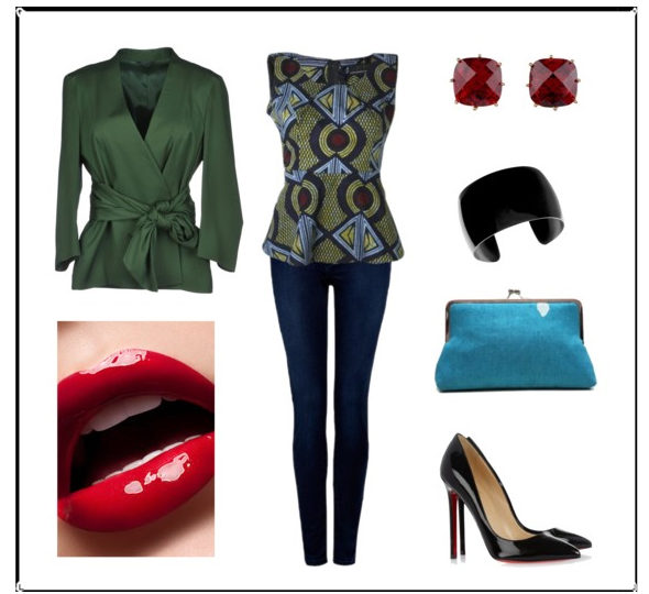 How to wear it: Ankara Peplum Top