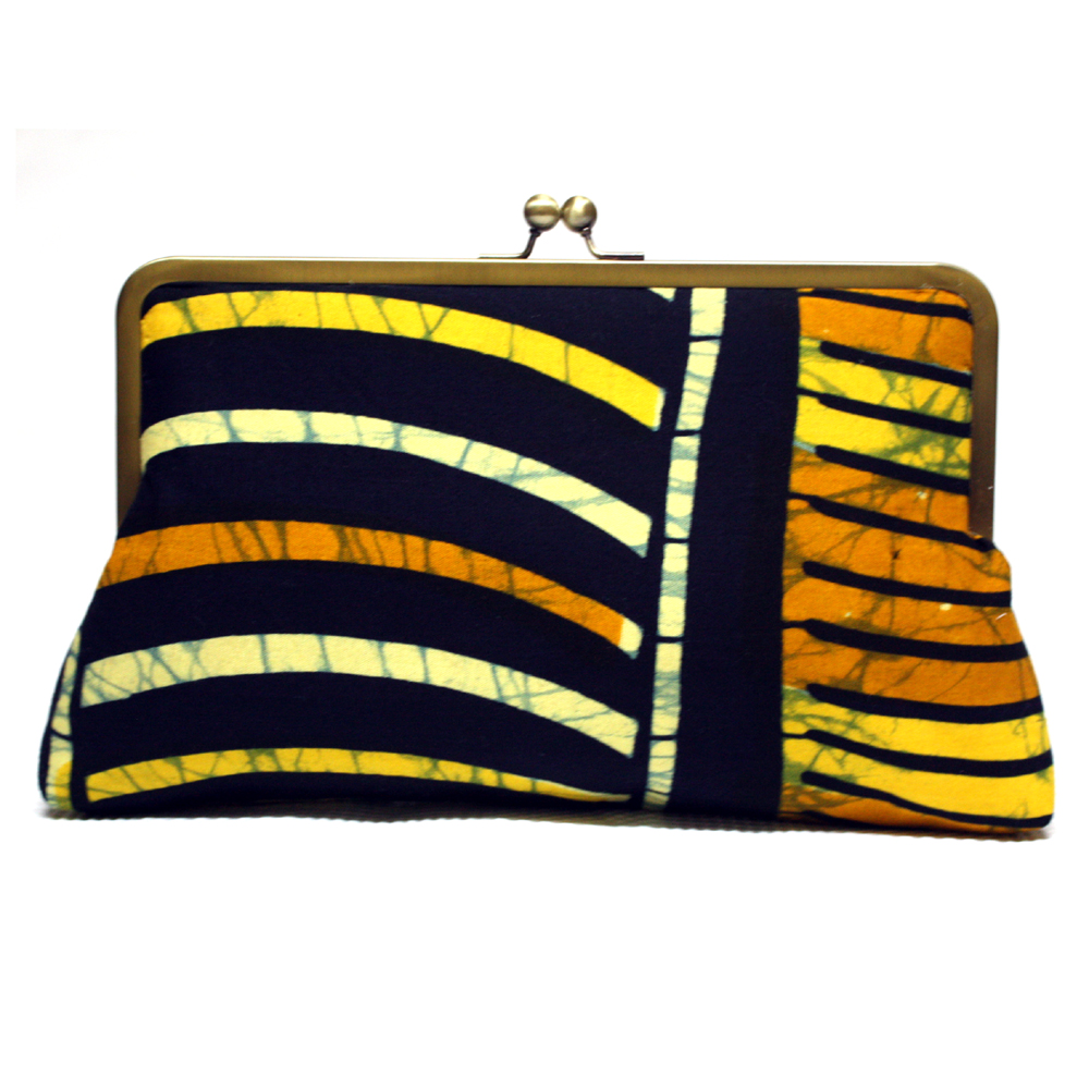 Citrus Ankara Clutch