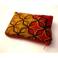 Red-stars zipper pouch