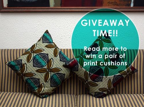 Ankara Seed Print Cushions