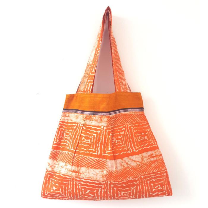Orange Batik Tote