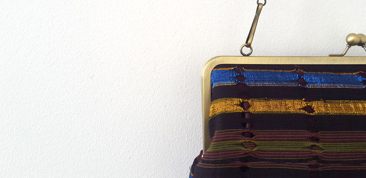 Just in: Vintage and Gold Aso-oke Clutch