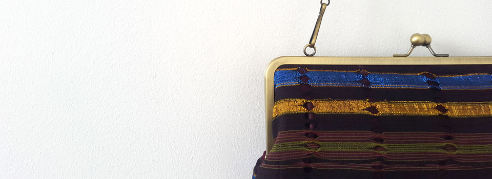 Vintage and Gold Aso Oke Clutch
