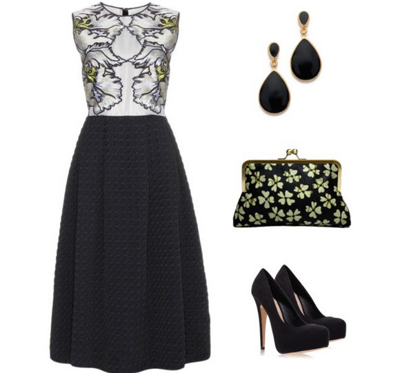 How to Rock It: Black Print Clutch
