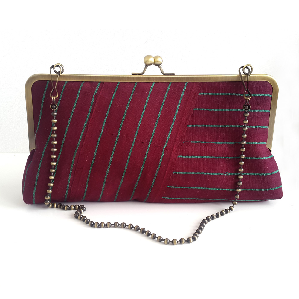 Maroon clutch purse