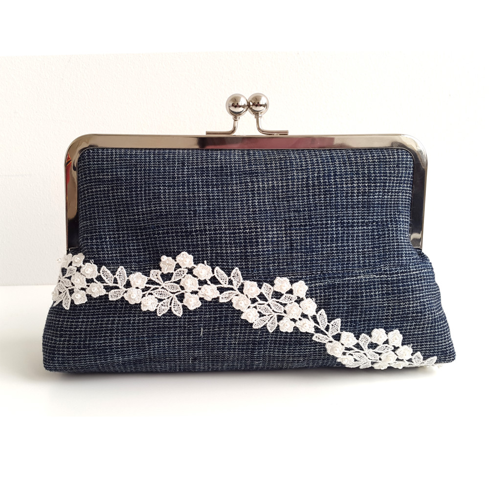 Etu and Lace Aso oke clutch