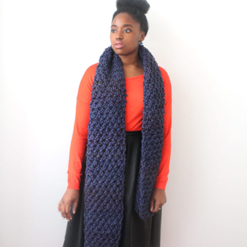 Blue Oversized Scarf