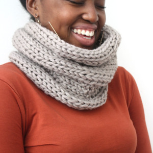 Taupe cowl