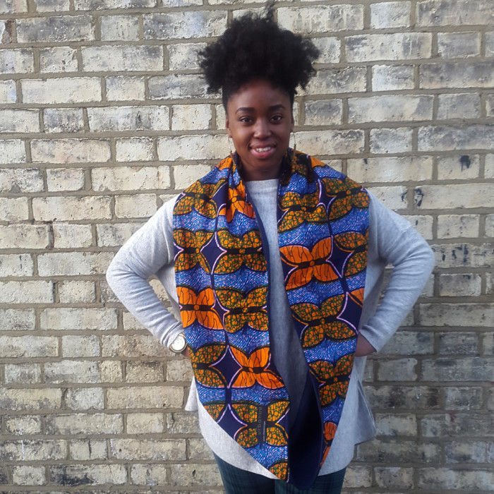 African print snood