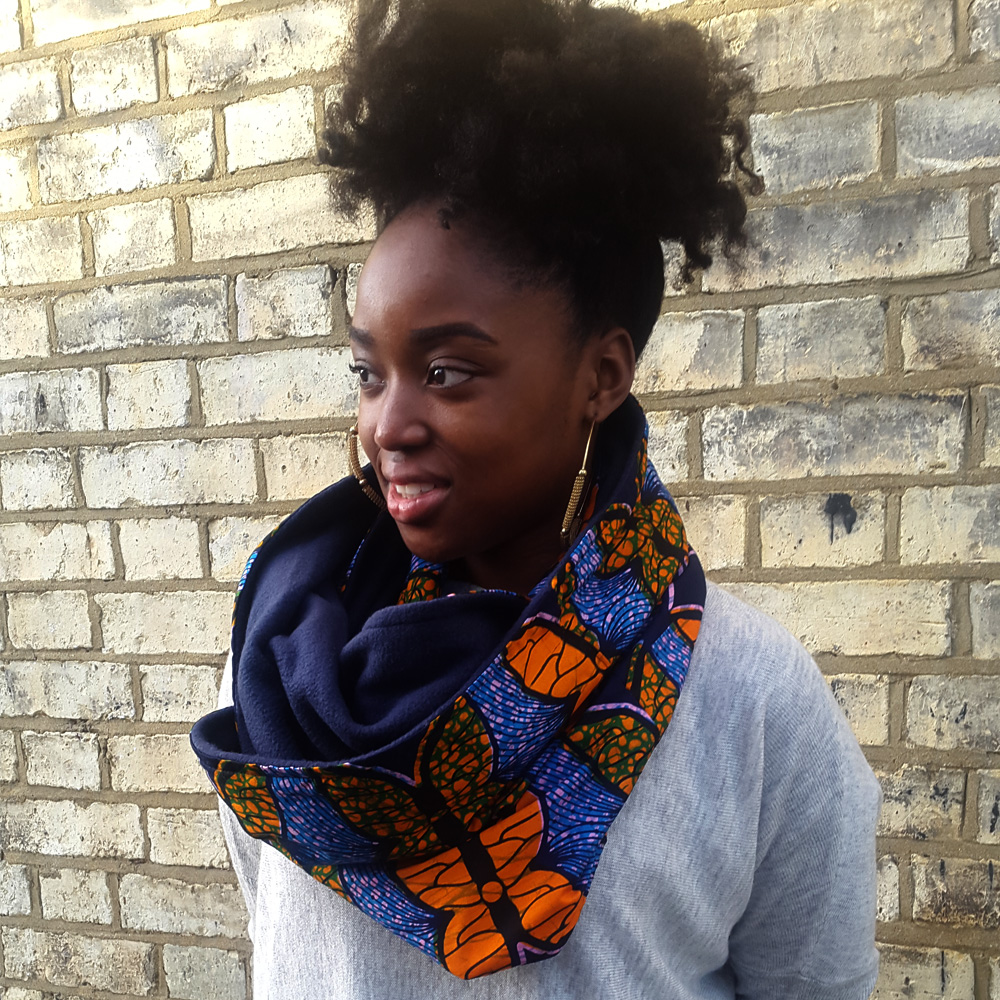 African print snood scarf
