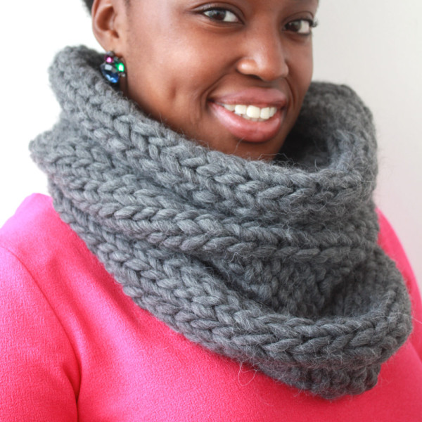 Grey Alpaca Snood