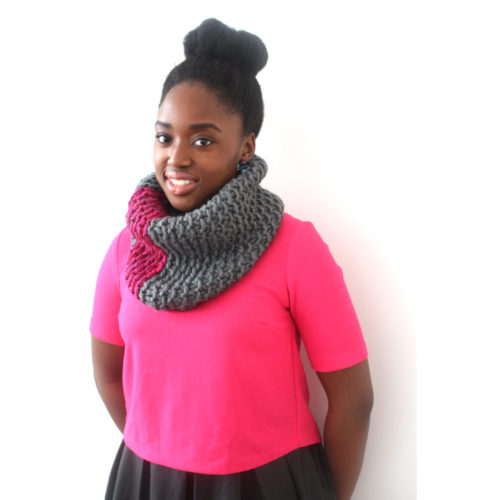 Pink and Grey Snood