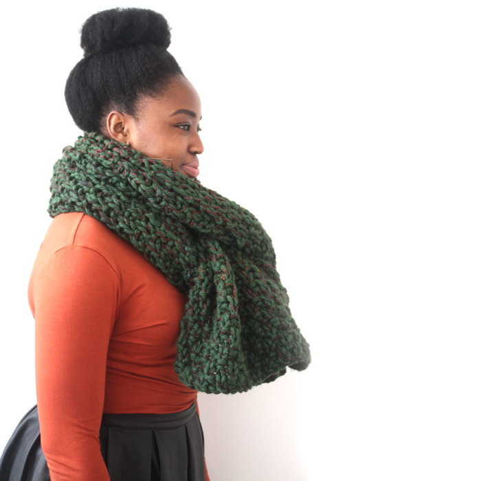 Big green scarf
