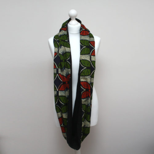 Butterfly Print Ankara Snood scarf
