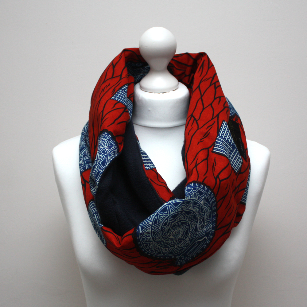 Red Ankara Snood