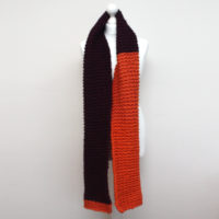 Orange and Purple Chunky Knit Scarf