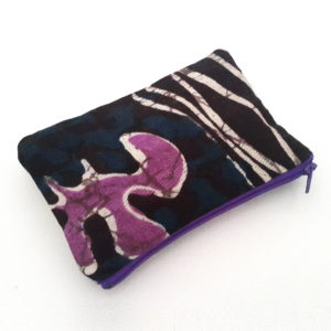 Purple and Plum Zipper Pouch