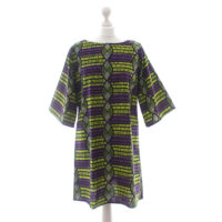 Purple and Green Ankara Tunic