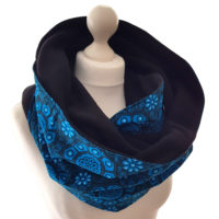 Turquoise Print Snood Scarf
