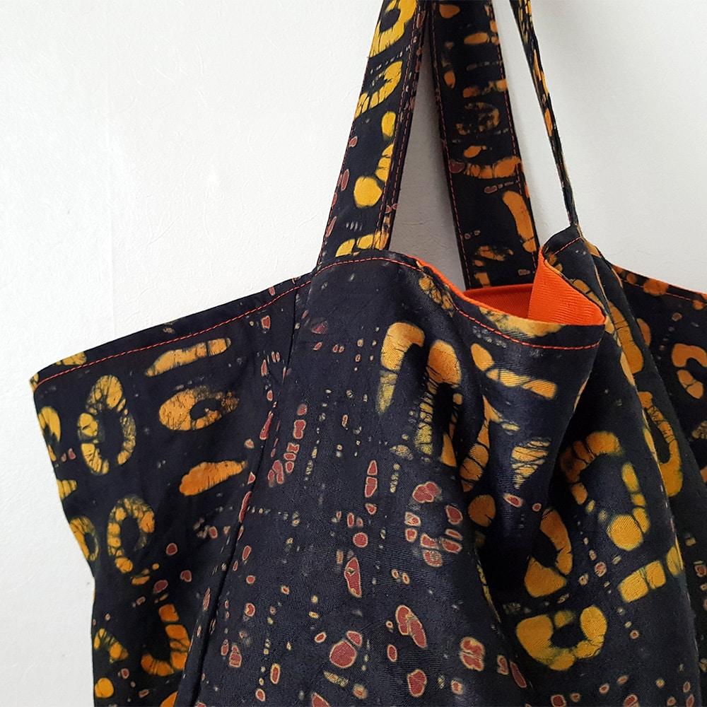 Brown Batik Cube Tote Bag Homeshopbagstotesbrown