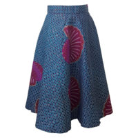 Turquoise and Purple Circle Print skirt