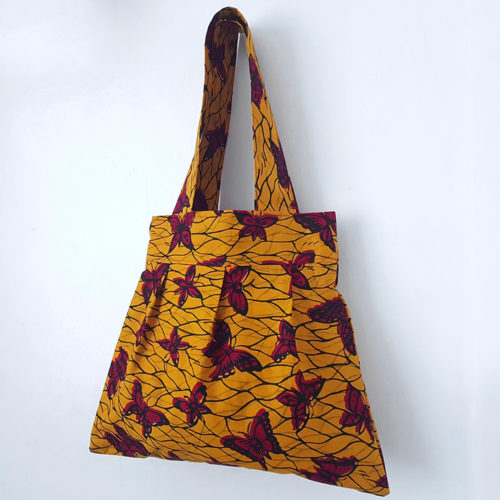 Yellow Ankara Tote Bag