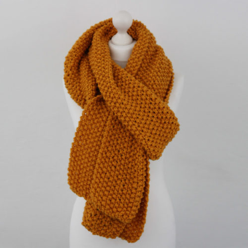 Yellow Chunky Knit Giant Scarf