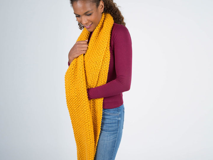 Our handknitted Giant wool scarf